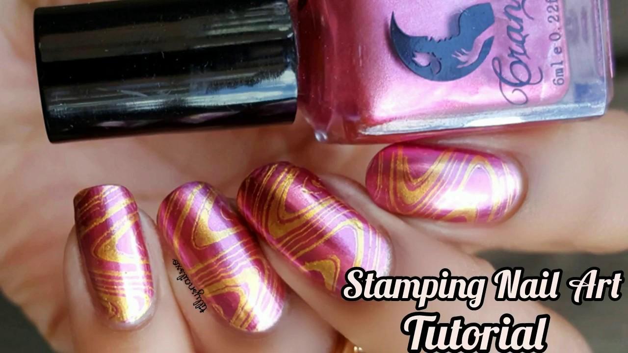 Lina Nail Art Supplies|Metallic| Stamping Nail Art Tutorial - YouTube