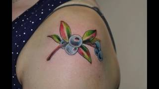Значение тату черника - фото примеры интересных татуировок