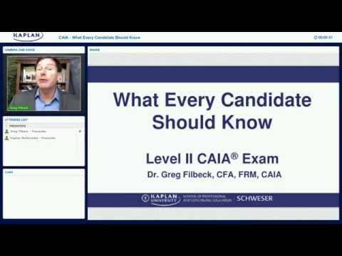 What Every CAIA® Level II Candidate Should Know–March 2016
