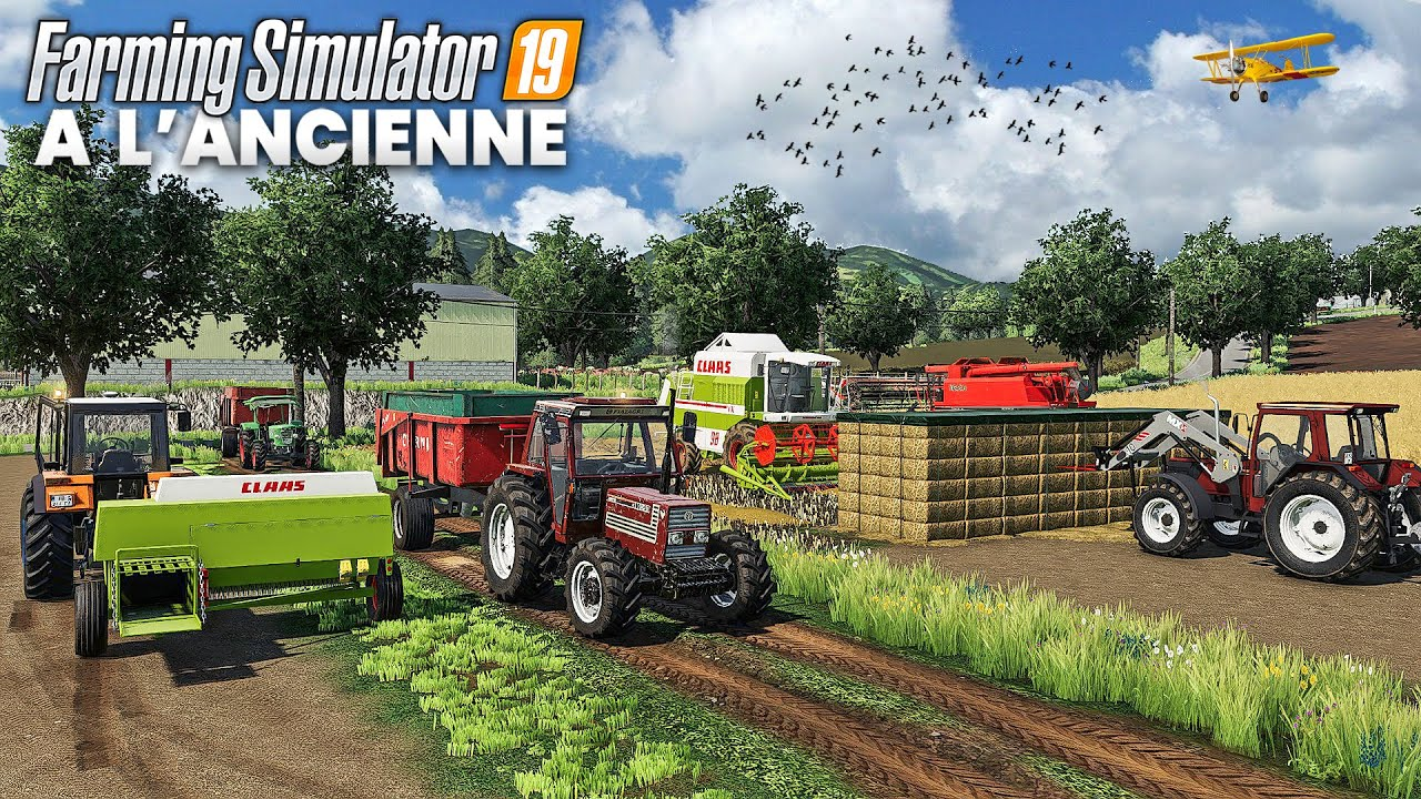 Farming Simulator A L'ANCIENNE: ENORME moisson, Stockage des bottes & Nettoyage du grain !