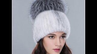 Великопепная норковая вязанная шапка с  большим помпоном из чернобурки. Купить шапку(Шапка из видео http://bit.ly/1HL7H6s. Магазин шапок из натурального меха http://bit.ly/1jDZzZO. На сайте ALIEXPRESS Вы с легкостью..., 2015-12-04T19:53:44.000Z)