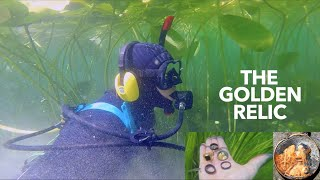 UNEXPLAINED GOLD RELIC? & Many RINGS Found!! while Underwater Hookah Scuba Dive Metal Detecting