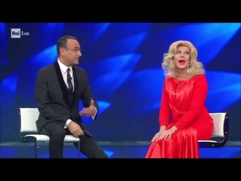 Sanremo 2017 - Virginia Raffaele è Sandra Milo nella quarta serata del Festival