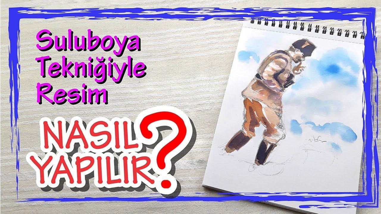 Ataturk Cumhuriyetbayram Suluboya Teknigiyle Ataturk Kocatepe De