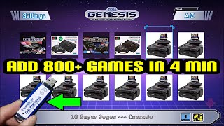 Add 800+ Games NOW to Sega Genesis Mini with True Blue Mini UltraDrive