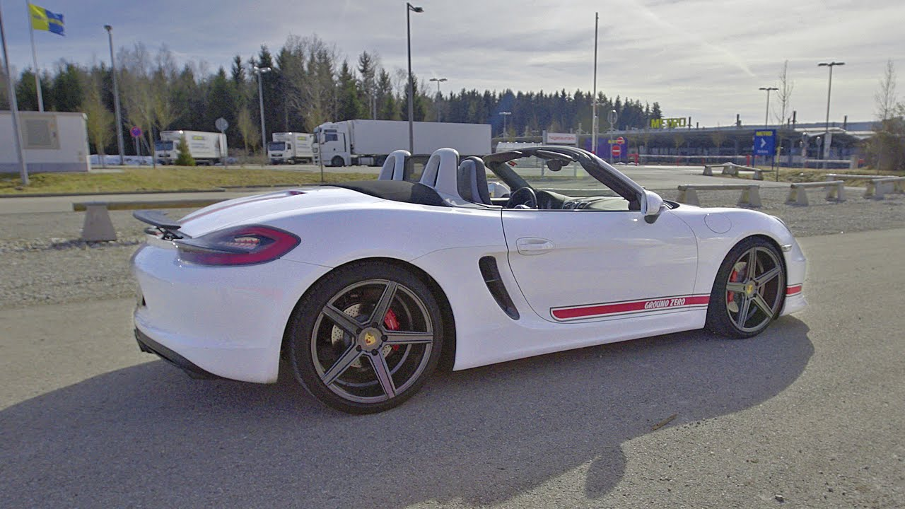 2015 porsche boxster s 981 akrapovic exhaust sound youtube. Black Bedroom Furniture Sets. Home Design Ideas