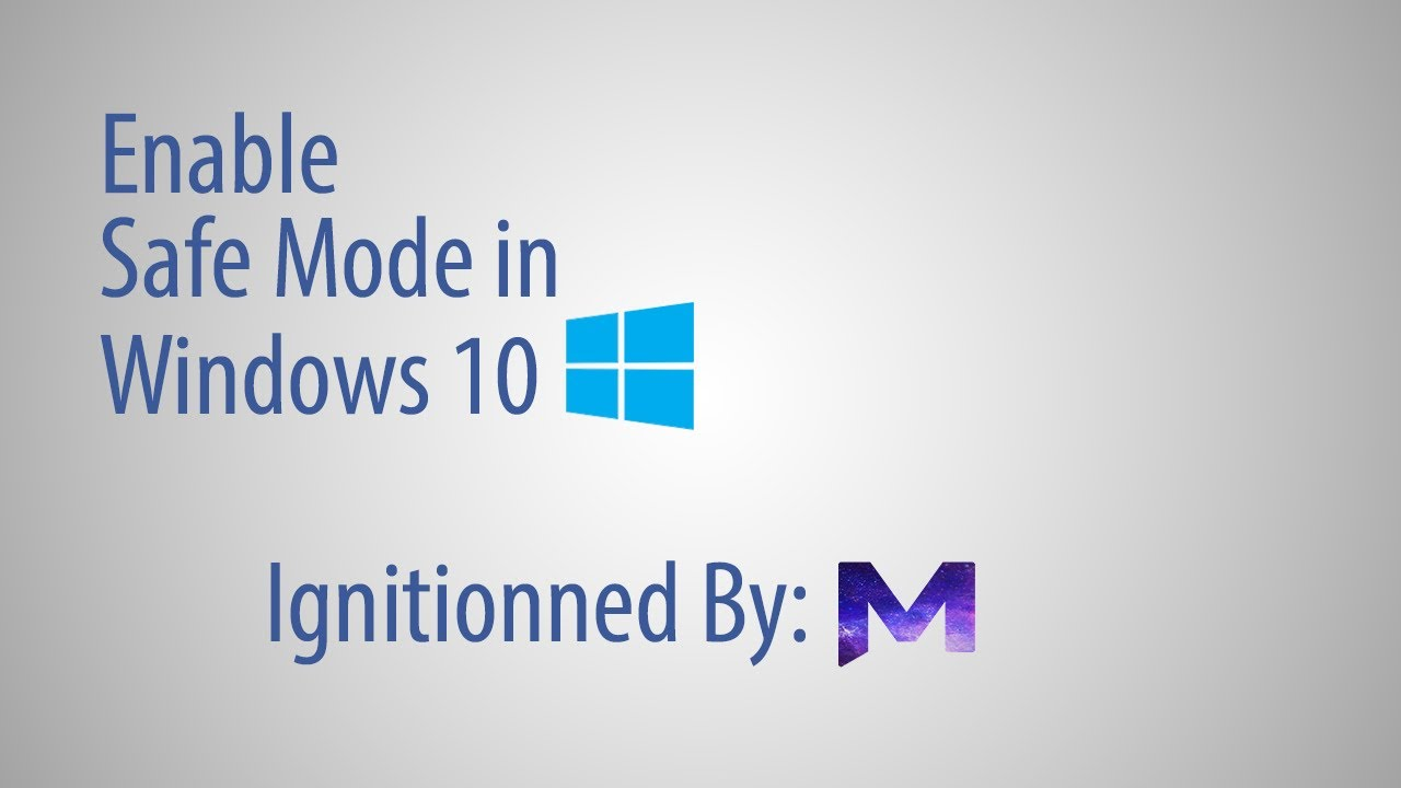 how to go safe mode in windows 10