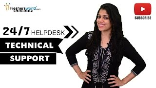 Job Roles For Technical Support – BPO,MNC's,Customer Service,Help Desk