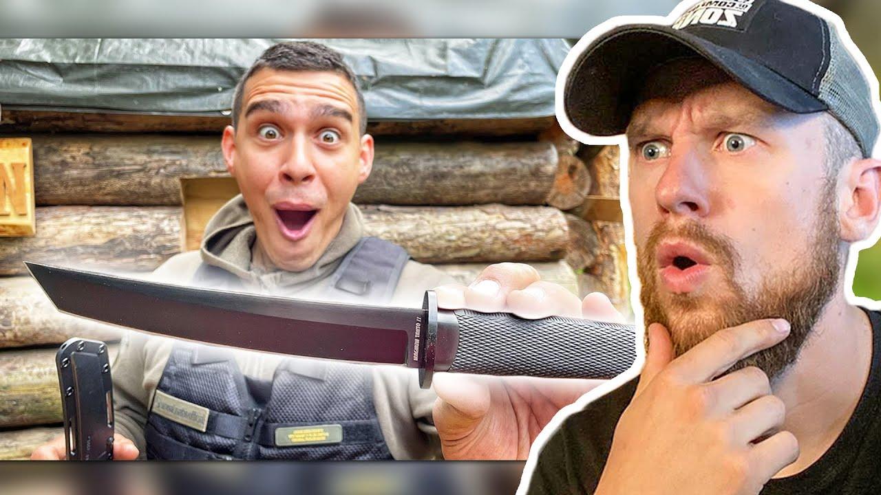 Samurai Bushcraft Messer im EXTREMTEST | Fritz Meinecke reagiert auf Survival Mattin