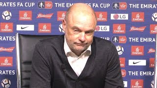 Leicester 2-0 Fleetwood - Uwe Rosler Post Match Press Conference - FA Cup Replay