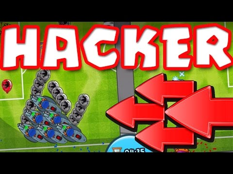 HE'S HACKING!! Bloons TD Battles  ::  CAN I BEAT THE HACKER!?