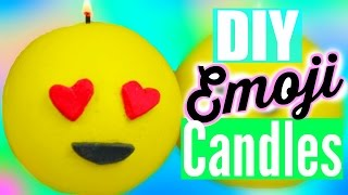DIY EMOJI CANDLES! Tumblr Inspired Room Decor!