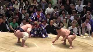 豪栄道vs 栃ノ心 の取組。2015春場所13日目。現地オリジナル撮影。 Gran...