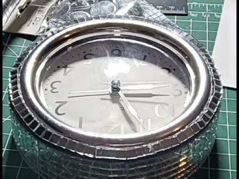 DIY Glam Mirrored 48 inch Wall Clock- Clock Decorating-Elegant- Easy Pt. 1