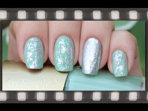 Голливудский маникюр фольгой | Silver Nail Art Foils