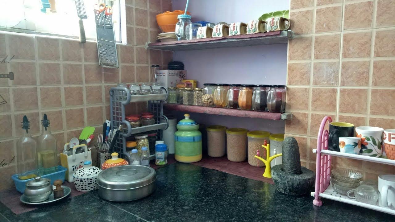 என்னுடைய கிச்சன் பாக்கலாம் வாங்க / Non modular kitchen counter top in tamil