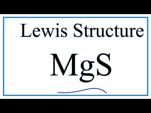 How To Draw The Lewis Dot Structure For MgS : Magnesium Sulfide