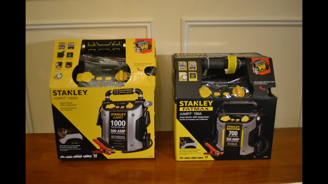 stanley jump starter how to use