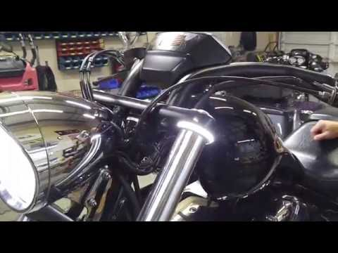 Honda Fury Dual Color White//Amber Fork Mount LED Turn Signals Clear Lens