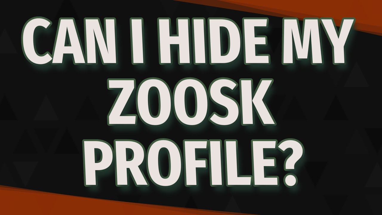 zoosk hide profile