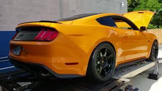 2018 Orange fury Mustang GT on E85