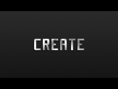 Photoshop Tutorial: Classic Metal Text Effect