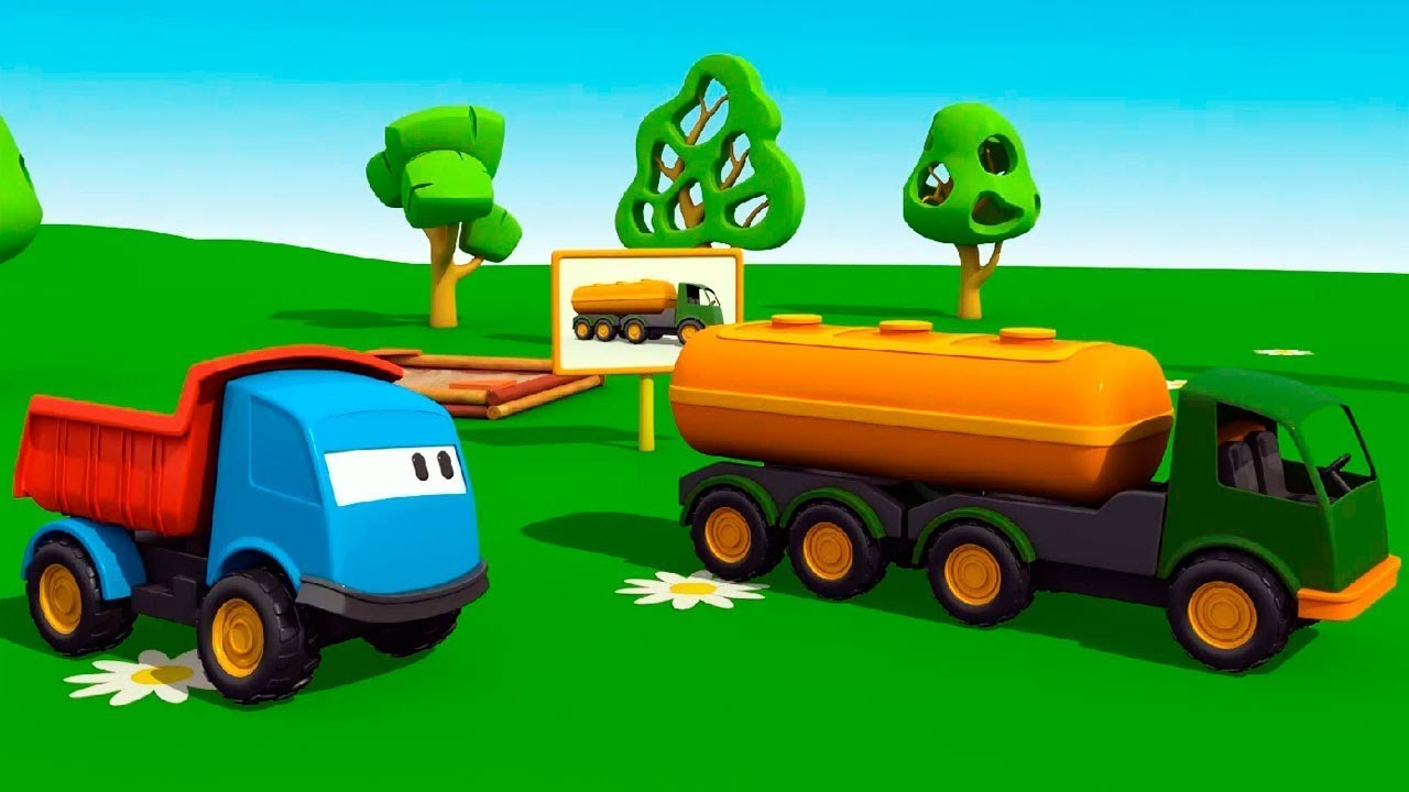 Um Caminhao Tanque Leo O Caminhao Dibujo Animado Para Criancas