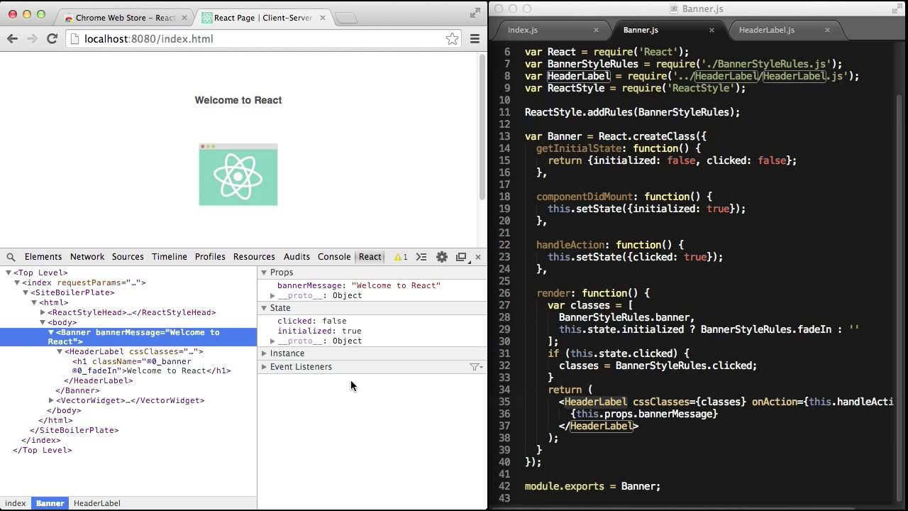The definition of React Devtools