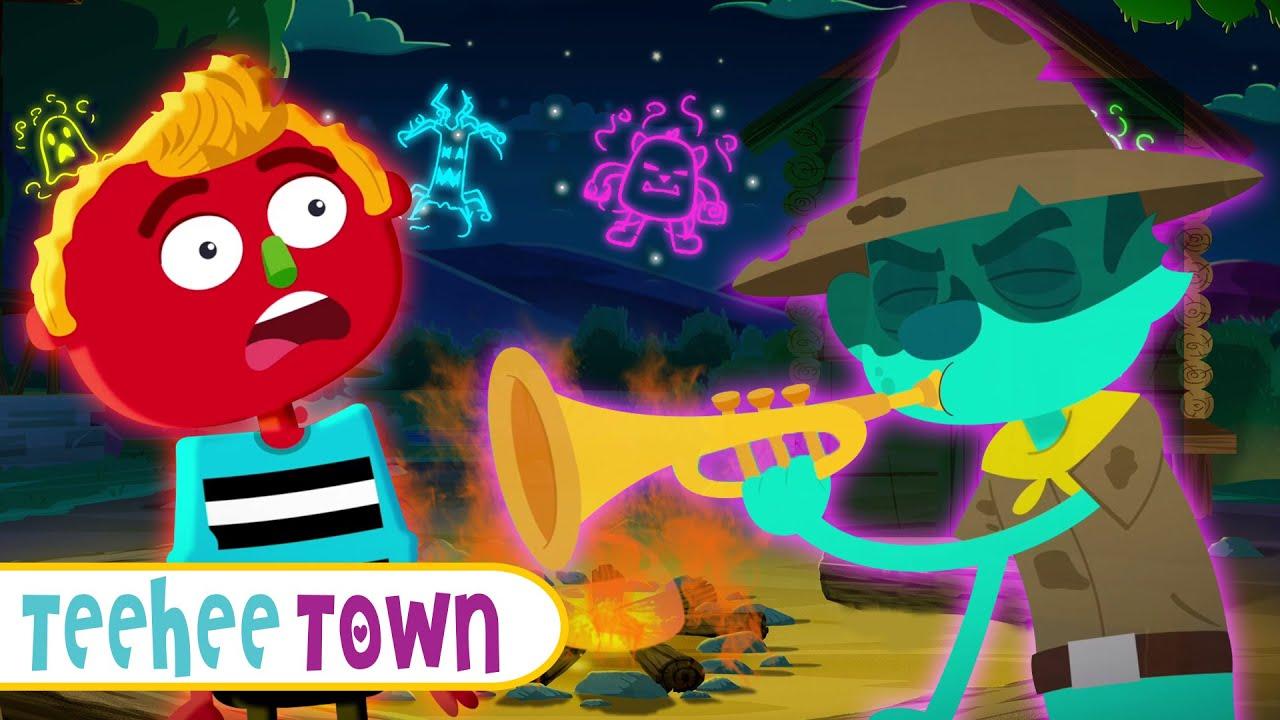 Ghost Camp Song   Spooky Stories & Songs For Kids   Teehee Town