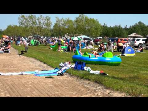AspenBeachProvincial Park on Gull Lake in Red Deer Area in Central Alberta of Western Canada