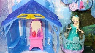 bup be nu hoang bang gia   Búp bê Nữ Hoàng Băng Giá Elsa áo đầm Magiclip và lâu đài nhỏ xinh