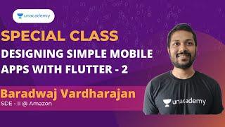 Designing Mobile apps with Flutter - Part 2 | Special Class | Baradwaj Vardharajan screenshot 3