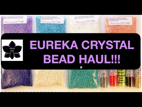 Miyuki Delica Bead Haul! Eureka Crystal Beads & eBay