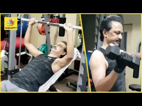 M K Stalin Workout giving serious fitness goals   Latest News