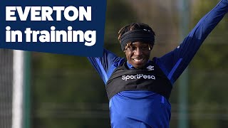 TRAINING GAME + MOISE KEAN SKILLS | EVERTON PREPARE FOR WEST HAM