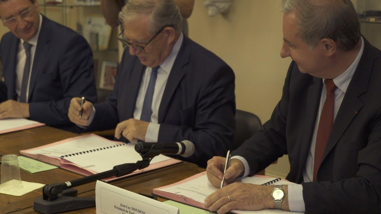 signature du contrat de r 233 ciprocit 233 entre toulouse m 233 tropole et le pays des portes de gascogne