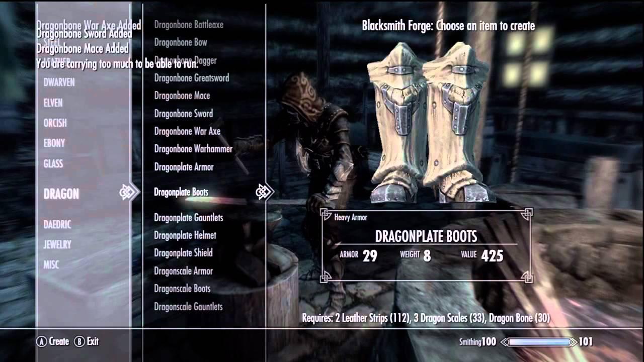 Skyrim Dawnguard How To Make Dragon Bone Weapons Youtube