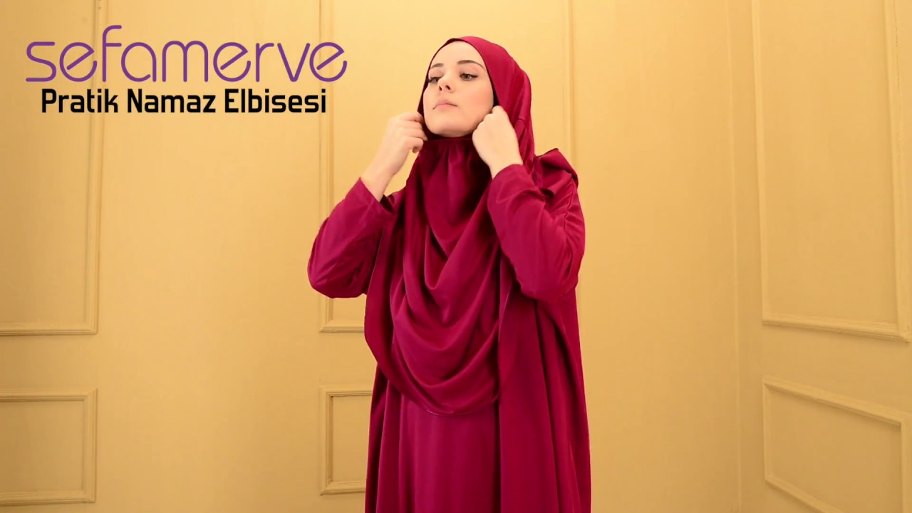 0521c6b47d555 Sefamerve Pratik Namaz Elbisesi - YouTube