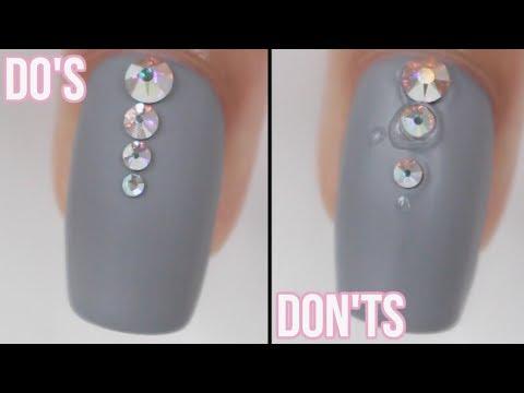 DOs & DON'Ts: Gem/Crystal Nails (No Gel)