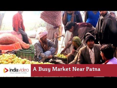 A busy market near Patna, Bihar