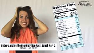 Understanding the New Nutrition Facts Label: Part 2