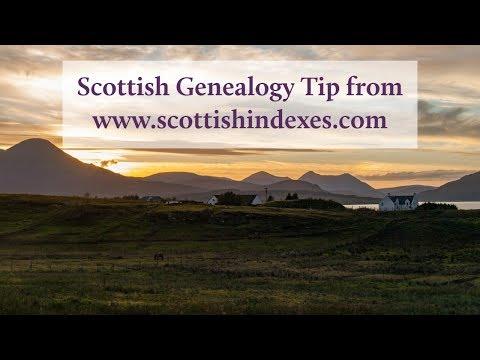 Scottish Genealogy Tip - Understand The Maiden Surname Tradition In Scotland