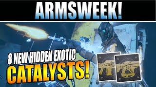 Destiny 2 News | API Update Reveals 8 More Exotic Catalysts &  ARMSWEEK Nightfalls?