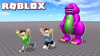 Roblox Adventures - DON'T HUG BARNEY IN ROBLOX! (Destroy Barney)