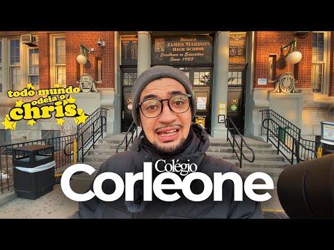 FUI NA ESCOLA DO CHRIS no Brooklyn! O verdadeiro Colégio Corleone