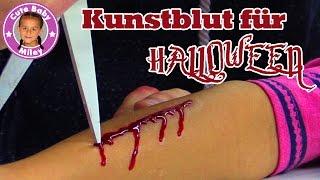 BLUTENDE  HORROR WUNDE SCHMINKEN | Halloween Verletzung mit Kunstblut | CuteBabyMiley