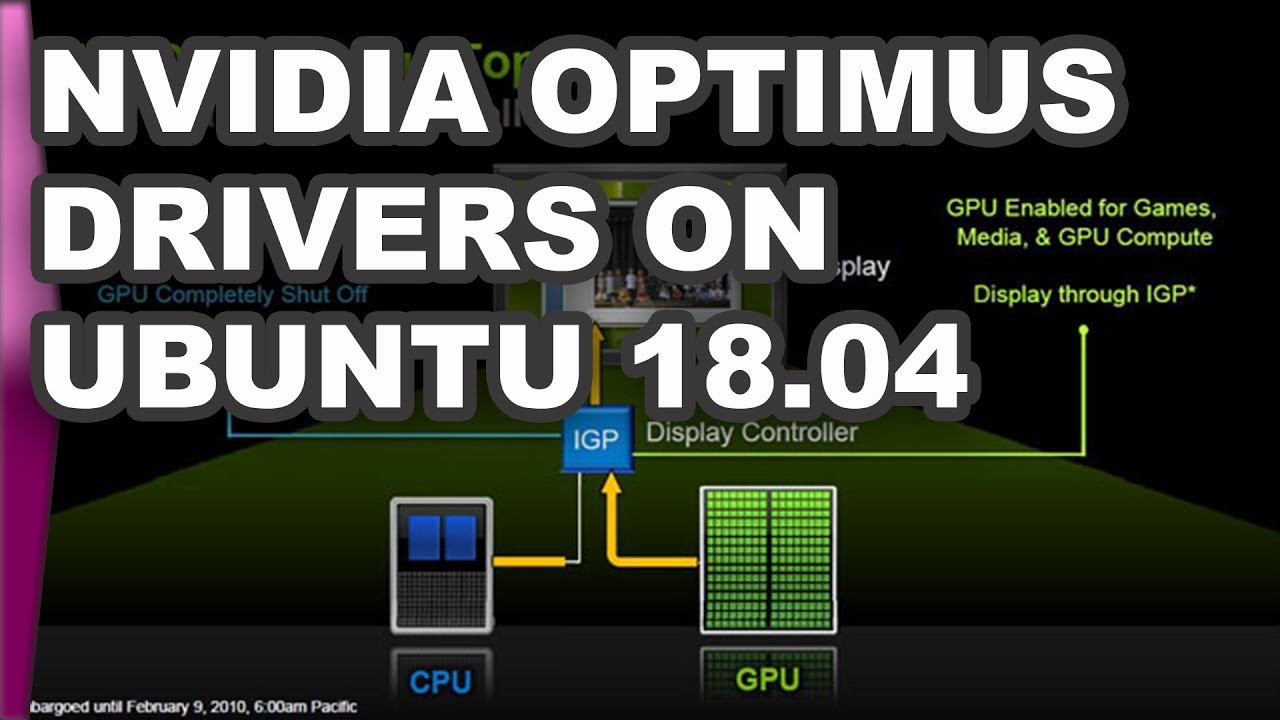 Install Nvidia Optimus drivers on Ubuntu 18 04 with prime-select