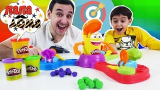 - Папа РОБ и ЯРИК играют в Плей До Прямо в цель Play Doh