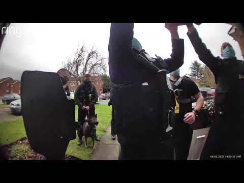 British Police State in action