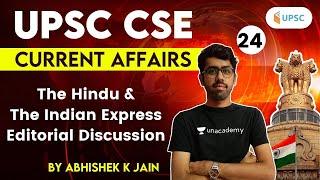 3:00 PM - UPSC CSE 2021 | The Hindu & Indian Express Editorial Analysis by Abhishek Jain